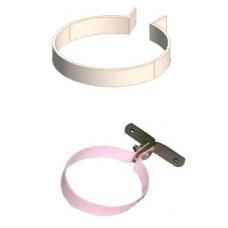 20NB PRESS PIPE CLIP HEAD S/STEEL