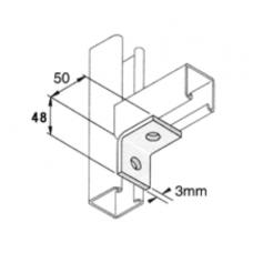 50 x 48 90 Deg 2 Hole Angle  HDG