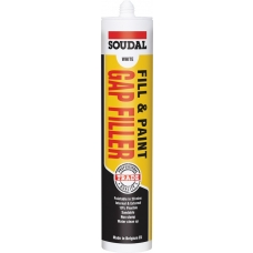 Soudal Fill & Paint Gap Filler - White