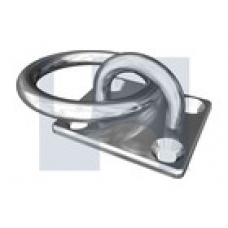 304 EYE PAD OBLONG W/RING: 6