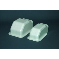 100mm PVC Ezy Pipe Duct Wall Cap