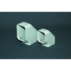 80mm Ezy Duct Bend (flat)