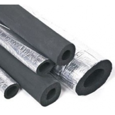 64mm Foil Pipe Insulation 25mm Wall-2m